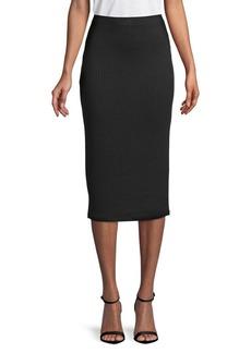 MICHAEL Michael Kors Ribbed Pencil Skirt
