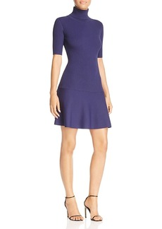 Michael Michael Kors Ribbed Turtleneck Flare Dress - 100% Exclusive