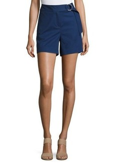 MICHAEL Michael Kors Ring-Belted Cotton-Blend Shorts