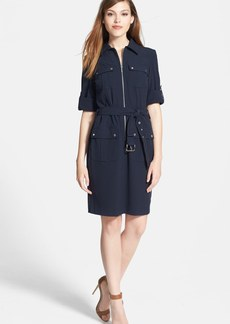 MICHAEL Michael Kors Roll Sleeve Belted Shirtdress (Regular & Petite)