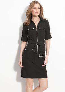 MICHAEL Michael Kors Roll Sleeve Belted Shirtdress (Regular & Petite)