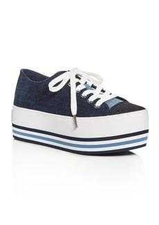 MICHAEL Michael Kors Ronnie Denim Platform Lace Up Sneakers