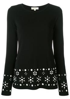 Michael Michael Kors round neck embellished jumper - Black