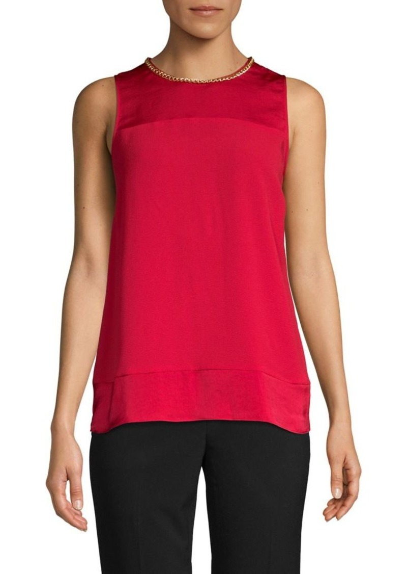 MICHAEL Michael Kors Roundneck Sleeveless Top