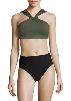 MICHAEL Michael Kors Ruched Bikini Top