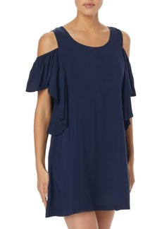 MICHAEL Michael Kors Ruffle Cold Shoulder Cover-Up