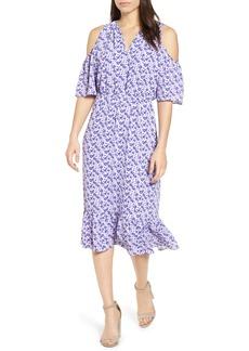 MICHAEL Michael Kors Ruffle Cold Shoulder Dress
