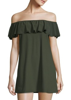 Ruffle Off-the-Shoulder Coverup