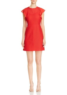 MICHAEL Michael Kors Ruffle-Sleeve Embroidered Dress