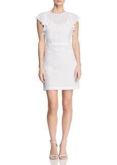 MICHAEL Michael Kors Ruffle-Sleeve Embroidered Dress