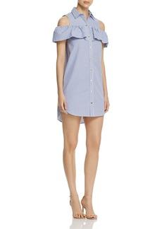 MICHAEL Michael Kors Ruffle Sleeve Shirt Dress - 100% Exclusive
