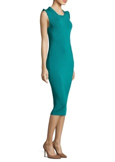 MICHAEL Michael Kors Ruffle-Trim Bodycon Dress
