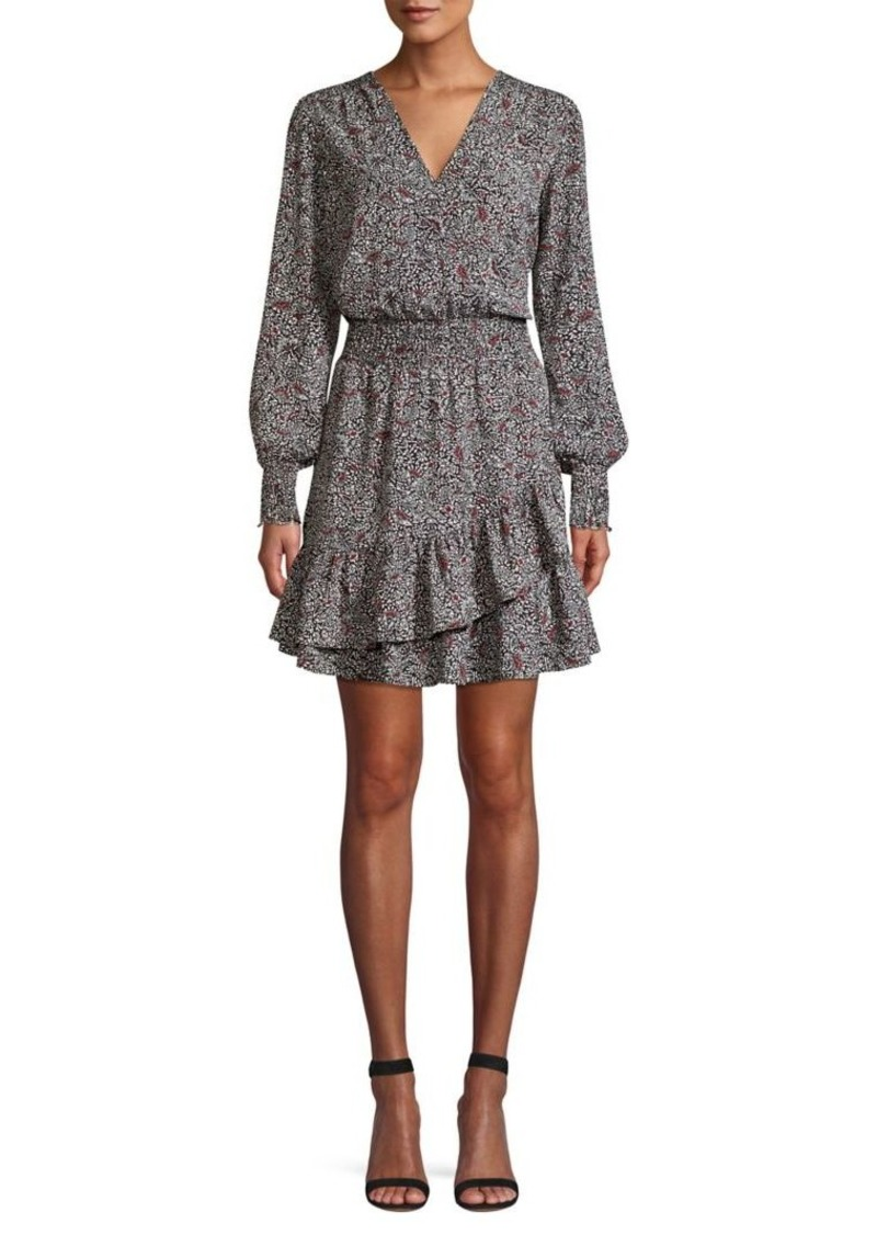 MICHAEL Michael Kors Ruffle-Trim Floral Dress