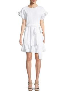 MICHAEL Michael Kors Ruffle-Trim Mini Wrap Dress