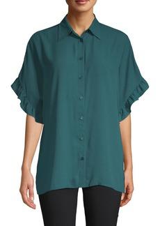 MICHAEL Michael Kors Ruffle-Trimmed Shirt