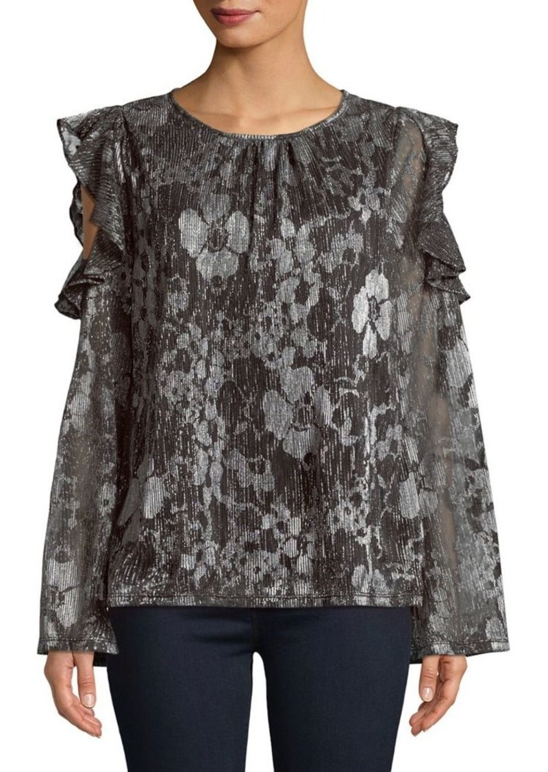 07809d4dd18dce MICHAEL Michael Kors MICHAEL Michael Kors Ruffled Cold-Shoulder Top ...