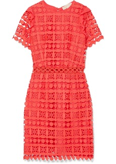 MICHAEL Michael Kors Ruffled corded lace and crepe de chine dress