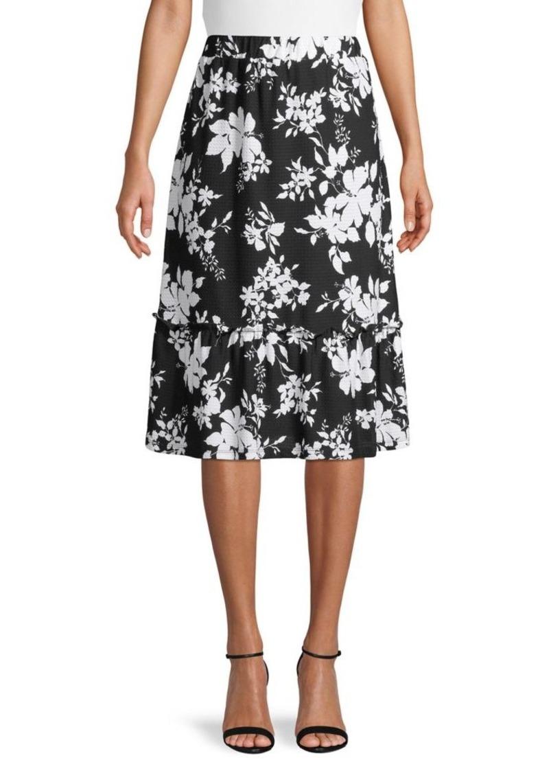 MICHAEL Michael Kors Ruffled Floral Skirt