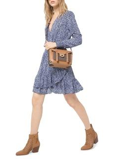 MICHAEL Michael Kors Ruffled Ikat-Print Dress