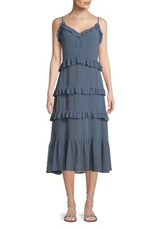 MICHAEL Michael Kors Ruffled Midi Dress