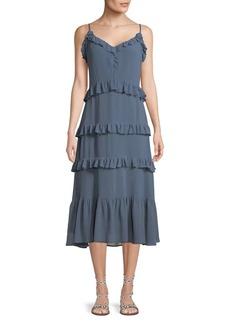 MICHAEL Michael Kors Ruffled Midi Dress