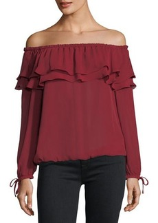 MICHAEL Michael Kors Ruffled Peasant Blouse
