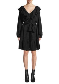 MICHAEL Michael Kors Ruffled Puff-Sleeve Dress