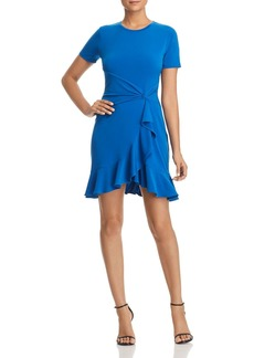 MICHAEL Michael Kors Ruffled Twist-Waist Dress
