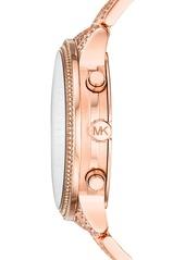 MICHAEL Michael Kors Runway Crystals Bracelet Watch, 43mm