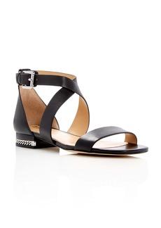 MICHAEL Michael Kors Sabrina Crisscross Chain Detail Sandals
