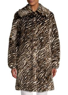 MICHAEL Michael Kors Safari Faux-Fur Coat