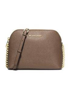 MICHAEL MICHAEL KORS Saffiano Leather Dome Crossbody Bag