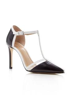MICHAEL Michael Kors Samantha T-Strap Pointed Toe High Heel Pumps