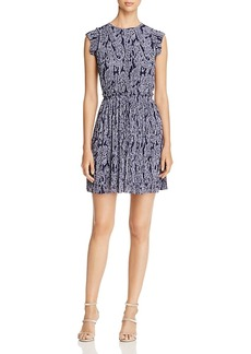 Michael Michael Kors Samara Pleated Paisley Dress