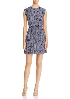 MICHAEL Michael Kors Samara Pleated Paisley Dress