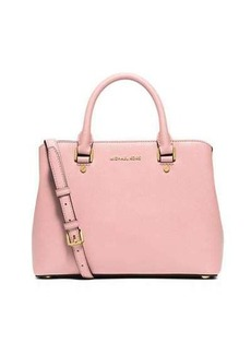 MICHAEL Michael Kors Savannah Medium Saffiano Satchel Bag