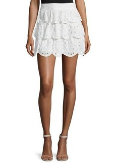 MICHAEL Michael Kors Scalloped Eyelet Skirt