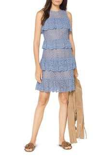 MICHAEL Michael Kors Scalloped Ruffle Lace Dress