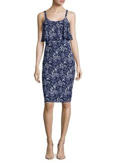 MICHAEL Michael Kors Scatt Flounce Sleeveless Dress