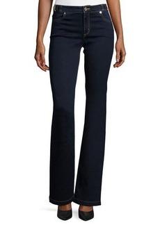 MICHAEL Michael Kors Selma Buckle-Waist Flare-Leg Jeans