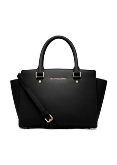 Selma Leather Medium Zip Satchel