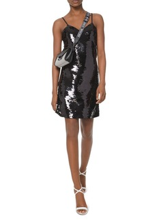 MICHAEL Michael Kors Sequined Crepe-Jersey Slip Dress