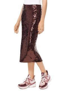 MICHAEL Michael Kors Sequined Jersey Pencil Skirt