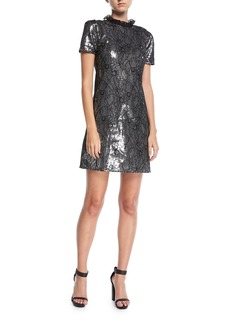 MICHAEL Michael Kors Sequined Lace Cocktail Dress