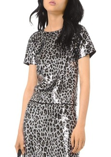 MICHAEL Michael Kors Sequined Leopard Top