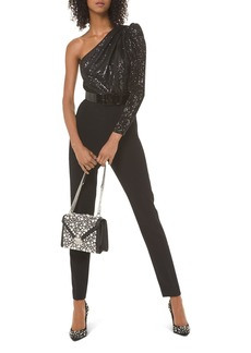 MICHAEL Michael Kors Sequined One-Shoulder Jumpsuit