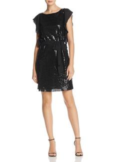 MICHAEL Michael Kors Sequined Ruffle-Sleeve Dress