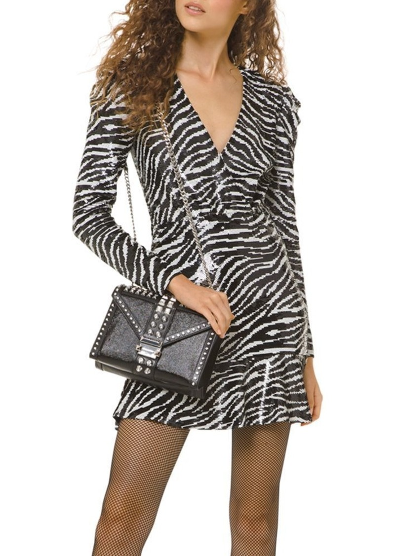 MICHAEL Michael Kors Sequined Tiger Mini Dress