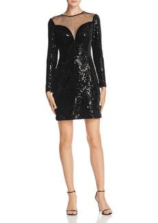 MICHAEL Michael Kors Sequined Velvet Mini Dress