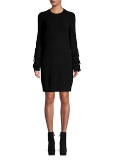 MICHAEL Michael Kors Shaker Fringe Sweater Dress